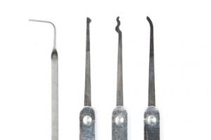 Lockpicking Werkzeug vom Schlüsseldienst